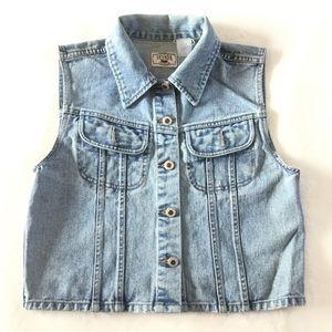 Nevada Button up light wash jean vest